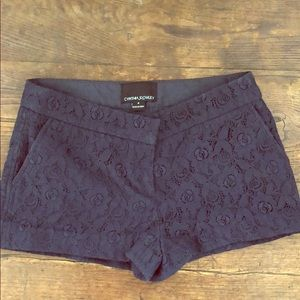 Cynthia Rowley Lace Shorts Navy Size 0
